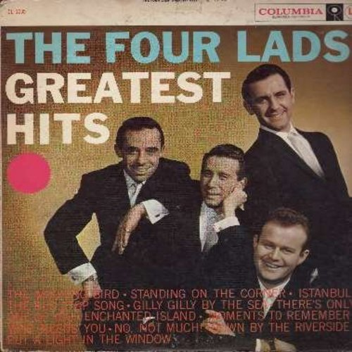 Four Lads - The Four Lad's Greatest Hits: The Mocking Bird, Standing On The Corner, Istanbul, The Bus Stop Song, Enchanted Island, No Not Much (Vinyl MONO LP record) - VG7/VG7 - LP Records