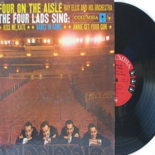 Four Lads - Four On The Aisle: The Lady Is A Tramp, Where Or When, Johnny One Note, Doin' What Comes Naturally, There's No Business Like Show Business (Vinyl MONO LP record) - NM9/EX8 - LP Records