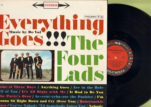 Four Lads - Everything Goes!: Anything Goes, Ac-cent-tchu-ate The Positive, It Had To Be You, The Party's Over (Vinyl STEREO LP record) - M10/EX8 - LP Records