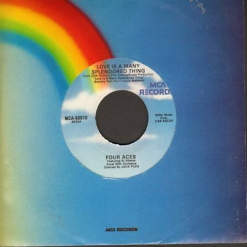 Four Aces - Love Is A Many-Splendored Thing/Tell Me Why (re-issue) - EX8/ - 45 rpm Records