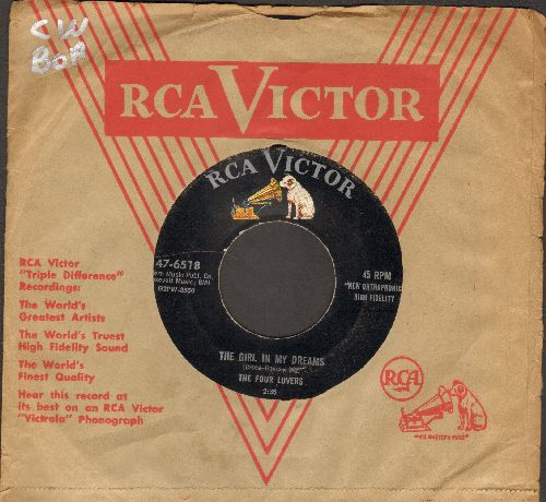 Four Lovers - The Girl In My Dreams/You're The Apple Of My Eye (RARE early 4 Seasons two-sider with vintage RCA company sleeve) - VG6/ - 45 rpm Records