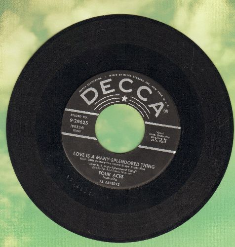Four Aces - Love Is A Many-Splendored Thing/Shine On Harvest Moon (black label first pressing) - VG7/ - 45 rpm Records