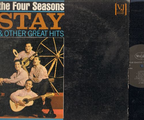 Four Seasons - Stay & Other Great Hits: Goodnight My Love, Hi Lillie Hi Lo, Connie-O, Teardrops, Long Lonely Nights (Vinyl MONO LP record) - EX8/EX8 - LP Records
