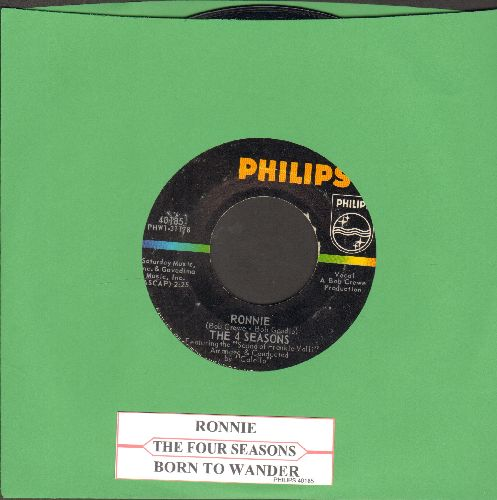 Four Seasons - Ronnie/Born To Wander (with juke box label) - EX8/ - 45 rpm Records