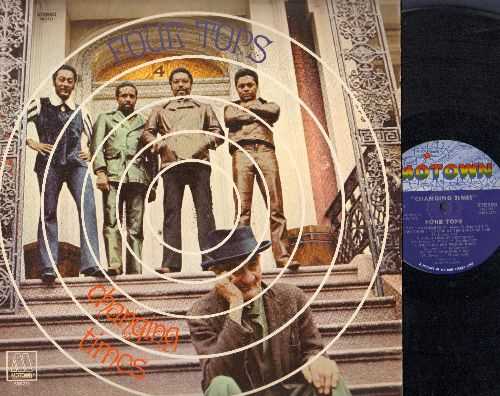Four Tops - Changing Times: Just Seven Numbers, Raindrops Keep Fallin' On My Head, Try To Remember, Sing A Song Of Yesterday (vinyl STEREO LP record) - NM9/EX8 - LP Records