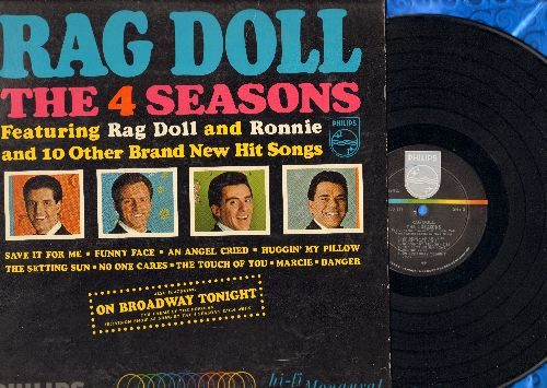 Four Seasons - Rag Doll: Ronnie, Save It For Me, On Broadway Tonight, Huggin' My Pillow, An Angel Cried (Vinyl MONO LP record) - NM9/VG7 - LP Records