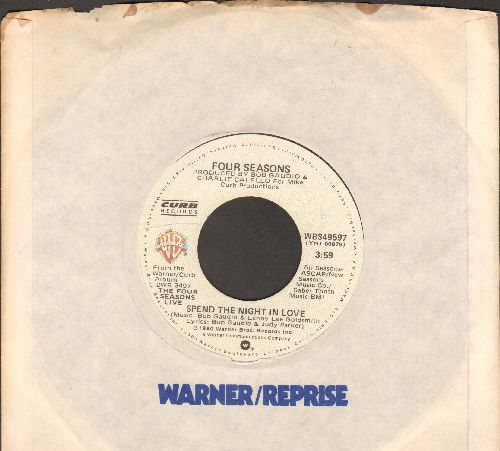 Four Seasons - Spend The Night In Love/Slip Away (with Warner Brothers company sleeve) - NM9/ - 45 rpm Records
