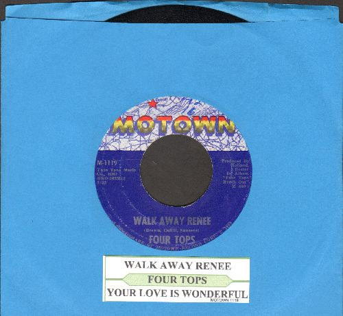 Four Tops - Walk Away Renee/Your Love Is Wonderful (NICE condition with juke box label)  - NM9/ - 45 rpm Records