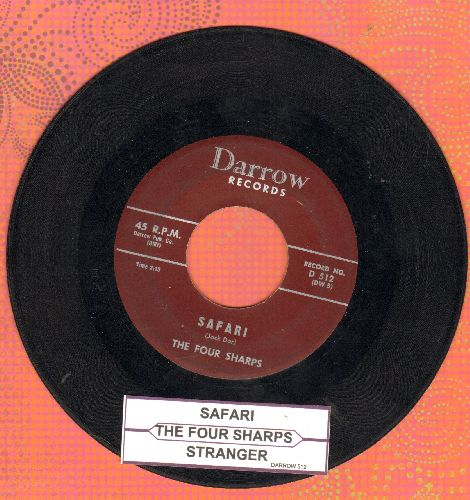 Four Sharps - Safari/Stranger (RARE Vintage Jazz-Novelty 2-sider!) - VG7/ - 45 rpm Records