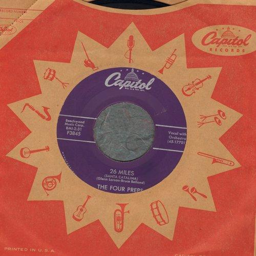 Four Preps - 26 Miles (Santa Catalina)/It's You (with vinatge Capitol company sleeve) - EX8/ - 45 rpm Records
