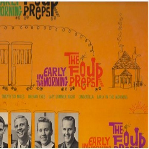 Four Preps - Early In The Morning: Big Man, 26 Miles, Cinderella, She Was 5 And He Was 10, Summertime Lies (Vinyl STEREO LP record, German Pressing) - NM9/EX8 - LP Records
