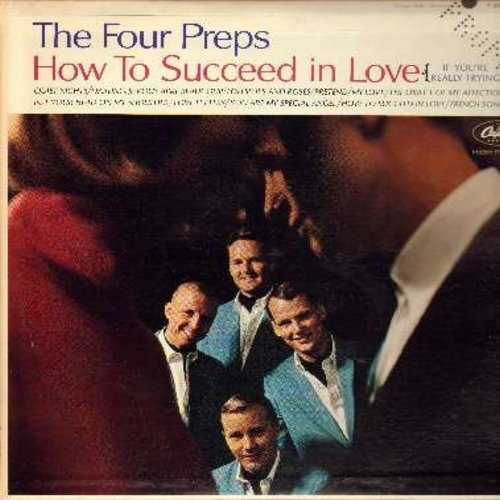 Four Preps - How To Succeed In Love: My Love, Put Your Head On My Shoulder, You Are My Special Angel, Pretend (DJ advance copy with PROMO punched in upper right cover corner) - M10/EX8 - LP Records