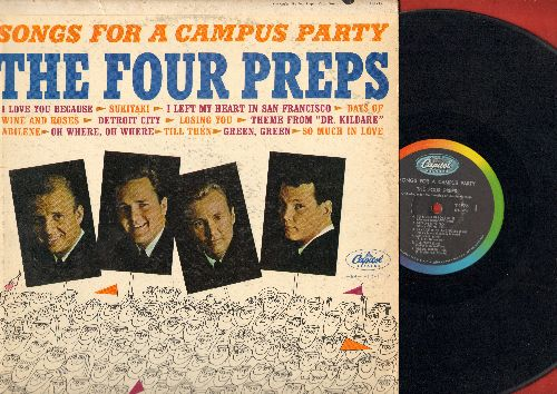 Four Preps - Songs For A Campus Party: Sukiyaki (sung in Japanese), Theme From Dr. Kildare, Till Then, So Much In Love vinyl MONO LP record) - VG7/VG7 - LP Records