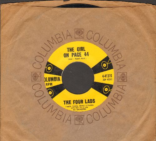 Four Lads - The Girl On Page 44/Sunday (with Columbia company sleeve) - EX8/ - 45 rpm Records