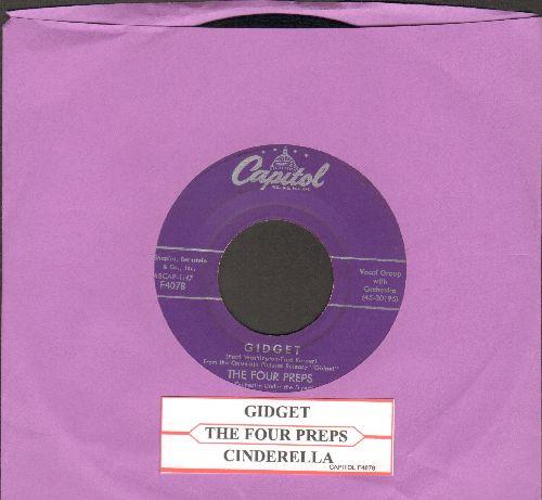 Four Preps - Gidget/Cinderella (with juke box label) - EX8/ - 45 rpm Records