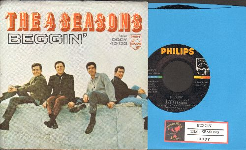 Four Seasons - Beggin'/Dody (with juke box label and RARE picture sleeve) - NM9/EX8 - 45 rpm Records