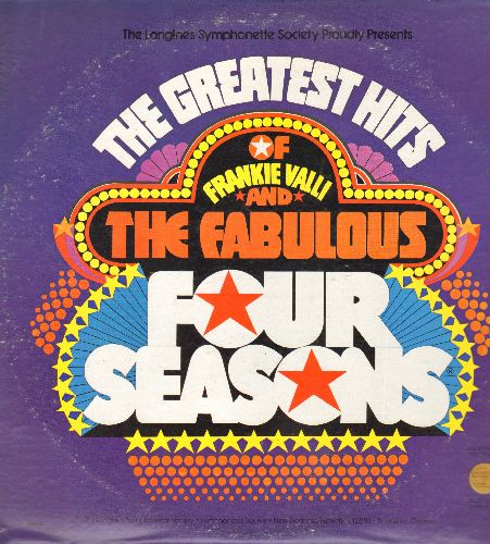 Four Seasons - The Greatest Hits Of Frankie Valli & The Four Seasons: Can't Take My Eyes Off You, Big Girls Don't Cry, Earth Angel, Sincerely, Alone, Stay (4 vinyl LP records in gate-fold cover - NM9/VG7 - LP Records