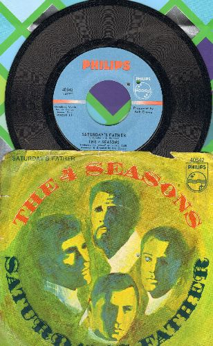 Four Seasons - Saturday's Father/Good-Bye Girl (with picture sleeve) - NM9/VG7 - 45 rpm Records
