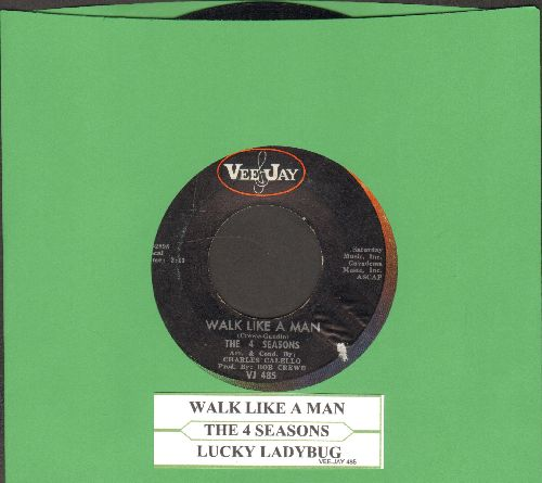 Four Seasons - Walk Like a Man/Lucky Ladybug (with juke box label) - EX8/ - 45 rpm Records