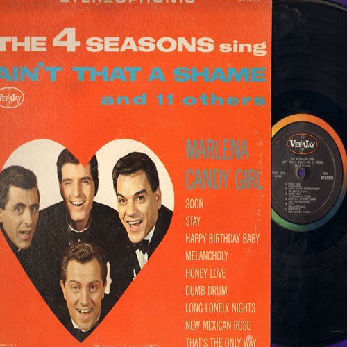 Four Seasons - Ain't That A Shame And 11 Others: Candy Girl, Marlena, Stay, Happy Birthday Baby, Long Lonely Nights (Vinyl STEREO LP record) - NM9/EX8 - LP Records