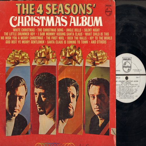 Four Seasons - Christmas Album: I Saw Mommy Kissing Santa Claus, We Wish You A Merry Christmas, Santa Claus Is Coming To Town, The First Noel, Deck The Halls, Christmas Tears (Vinyl MONO LP record, DJ advance pressing) - VG7/VG7 - LP Records