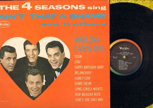 Four Seasons - Ain't That A Shame And 11 Others: Cady Girl, Marlena, Stay, Happy Birthday Baby, Long Lonely Nights (Vinyl MONO LP record) - VG7/VG7 - LP Records
