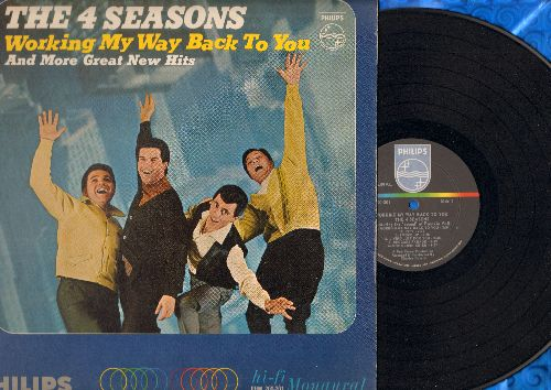 Four Seasons - Working My Way Back To You: (Mono) Can't Get Enough Of You Baby, Sundown, Everybody Knows My Name, Beggars Parade - EX8/VG7 - LP Records