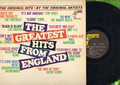Them, Zombies, Los Bravos, Fortunes, Kathy Kirby, others - The Greatest Hits From England: Gloria, She's Not There, Black Is Black, It's Not Unusual, Go Now (Vinyl MONO LP record) - EX8/VG7 - LP Records