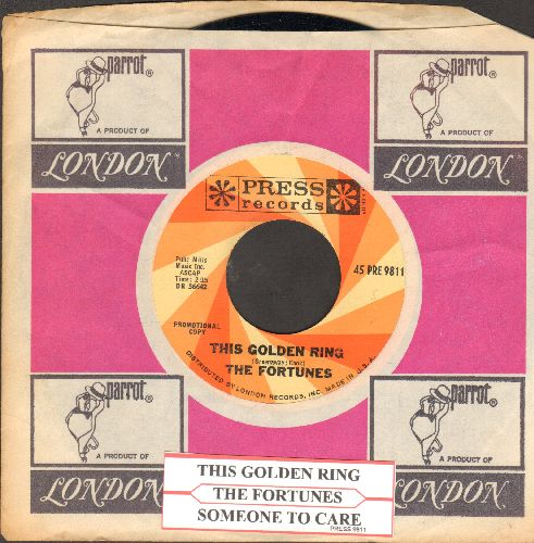 Fortunes - This Golen Ring/Someone To Care (DJ advance pressing with company sleeve and juke box label) - NM9/ - 45 rpm Records