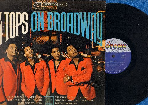 Four Tops - Four Tops On Broadway: Hello Broadway, Maria, Mame, My Way, Make Someone Happy, The Sound Of Music (Vinyl STEREO LP record) - NM9/EX8 - LP Records