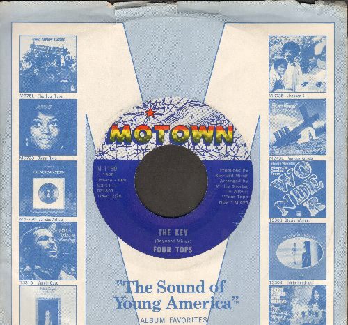 Four Tops - The Key/Don't Let Him Take Your Love From Me (with Motown company sleeve) - NM9/ - 45 rpm Records