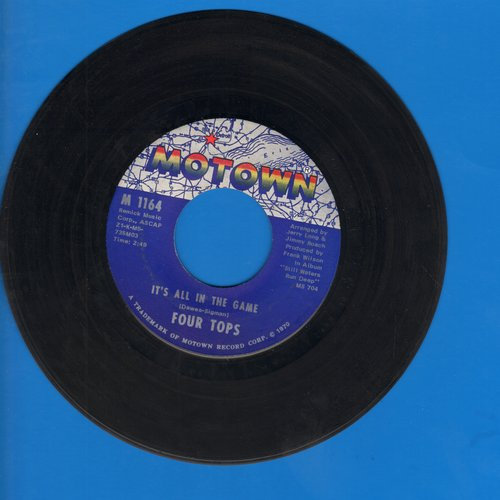 Four Tops - It's All In The Game/Love (Is The Answer) (bb) - VG7/ - 45 rpm Records