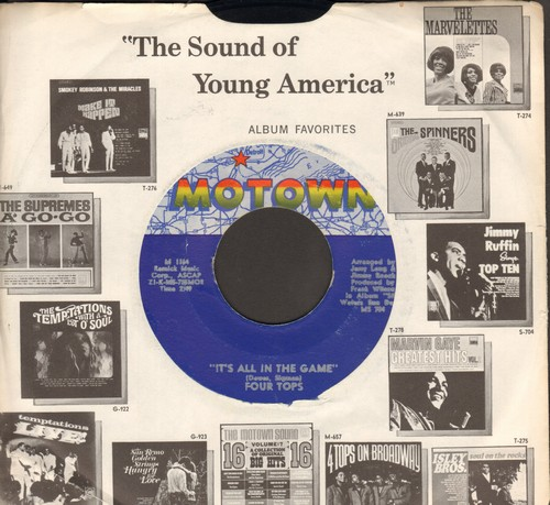 Four Tops - It's All In The Game/Love (Is The Answer) (with Motown company sleeve) - NM9/ - 45 rpm Records