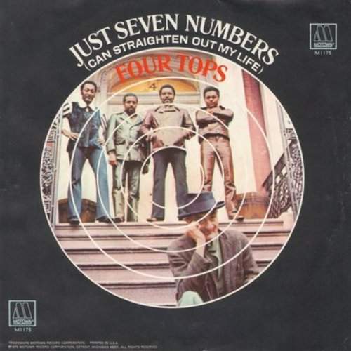 Four Tops - I Wish I Were Your Mirror/Just Seven Numbers (Can Straighten Out My Life) (with picture sleeve) - NM9/NM9 - 45 rpm Records