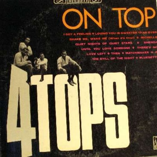 Four Tops - On Top: In The Still Of The Night, I Got A Feeling, Loving You Is Sweeter Than Ever, Sahke Me Wake Me, Brenda (Vinyl STEREO LP record) - NM9/VG7 - LP Records