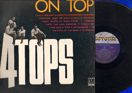 Four Tops - On Top: (Mono) In The Still Of The Night, I Got A Feeling, Loving You Is Sweeter Than Ever, Sahke Me Wake Me, Brenda (vinyl MONO LP record) - VG7/VG7 - LP Records
