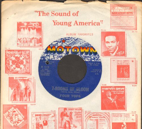 Four Tops - 7-Rooms Of Gloom/I'll Turn To Stone (with Motown company sleeve) (bb) - EX8/ - 45 rpm Records