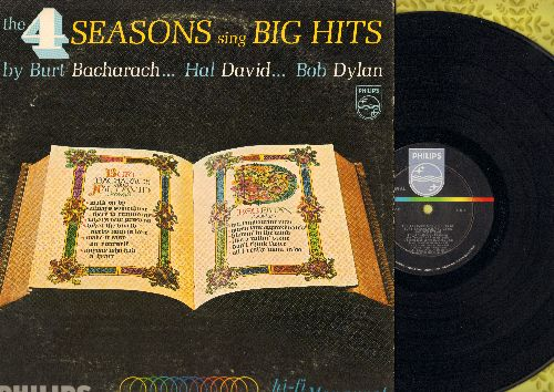 Four Seasons - The 4 Seasons Sing Big Hits By Burt Bacharach, Hal David, Bob Dylan: Like A Rolling Stone, What The World Needs Now Is Love, Blowin' In The Wind, What's New Pussycat? (Vinyl MONO LP record) - EX8/VG7 - LP Records