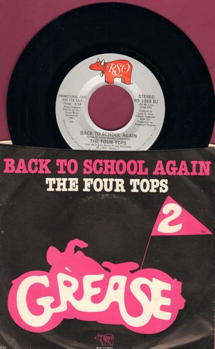 Four Tops - Back To School Again (from -Grease 2-) (double-A-sided DJ advance pressing with picture sleeve) - M10/NM9 - 45 rpm Records