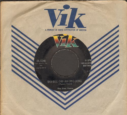 Four Vanns - Sha-Bee-Dah-Ah-Ding-Dong/So Young And So Pretty (with RARE vintage Vik company sleeve) - EX8/ - 45 rpm Records