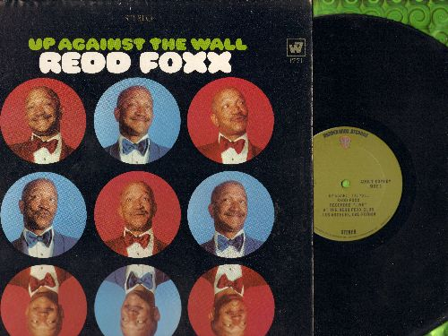 Foxx, Redd - Up Against The Wall - Recorded LIVE at the Redd Foxx Club, Los Angeles, California (Vinyl STEREO LP record) - EX8/VG7 - LP Records