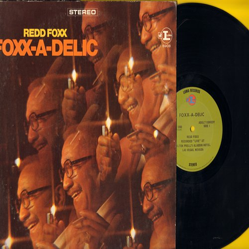 Foxx, Redd - Foxx-A-Delic: Another set of off-color stand-up comedy by the Master of Stag Humor (Vinyl STEREO LP record) - EX8/VG7 - LP Records