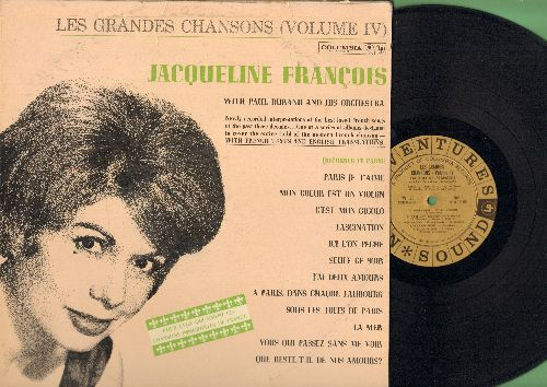 Francois, Jaqueline - Les Grandes Chansons (Vol. IV): La Mer, Fascination, Paris Je T'aime, Mon Coer Est Un Violon, J'ai Deux Amours (Vinyl LP record, Adventures In Sound PROMO Pressing) - NM9/EX8 - LP Records