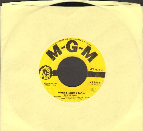 Francis, Connie - Who's Sorry Now (Connie Francis FIRST charted hit!)/You Were Only Fooling  - EX8/ - 45 rpm Records