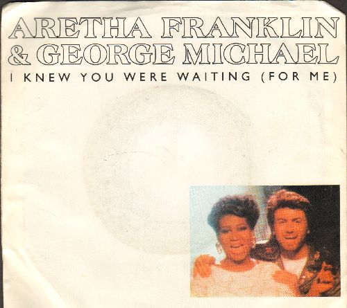 Franklin, Aretha & George Michael - I Knew You Were Waiting (For Me)/I Knew You Were Waiting (For Me) (Instrumental (with picture sleeve) - NM9/VG7 - 45 rpm Records