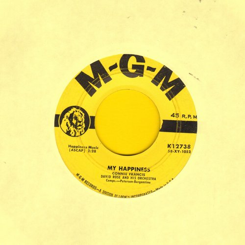 Francis, Connie - My Happiness/Never Before (yellow label first issue) - VG6/ - 45 rpm Records