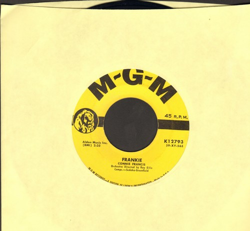 Francis, Connie - Frankie/Lipstick On Your Collar (yellow label first issue) - EX8/ - 45 rpm Records
