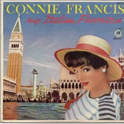 Francis, Connie - Sings Italian Favorites: Ciao Ciao Bambina, Mama, Santa Lucia, Comm'E Bella A Stagione, Arrivederci Roma, Volare (sung in Italian and English) - EX8/VG7 - LP Records