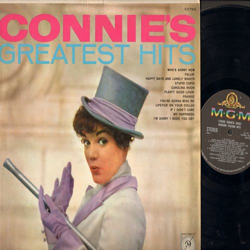 Francis, Connie - Connie's Greatest Hits: Who's Sorry Now, My Happiness, Stupid Cupid, Frankie, If I Didn't Care, Lipstick On Your Color (Vinyl STEREO LP record, less common early cover!) - EX8/EX8 - LP Records
