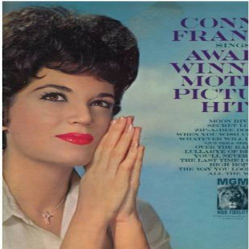Francis, Connie - Award Winning Motion Picture Hits: Moon River, Secret Love, Zip-A-Dee Doo-Dah, Over The Rainbow, High Hopes, When You Wish Upon A Star (Vinyl MONO LP record) - EX8/VG7 - LP Records